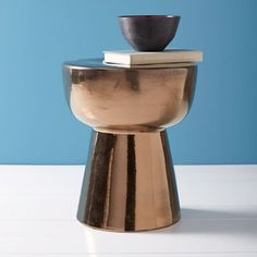 Remy Ceramic Side Table - Burnt Gold | West Elm