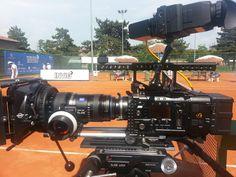 photo PANATRONICS srl la nostra Sony 4K a bordo campo.Proprio sotto la sedia arbitro #f55 #f5 #movcam @Sonja Champness Professional