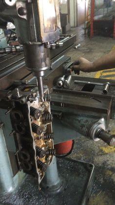Metalizado y rectificado de bancada de culata de aluminio !!