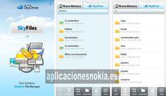 SkyFiles para Nokia N8 / C7 / 500 / 603 / 701 http://www.aplicacionesnokia.es/skyfiles-para-nokia-n8-c7-500-603-701/