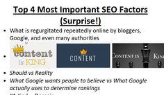 The Top 4 Most Important SEO Factors will Shock You!