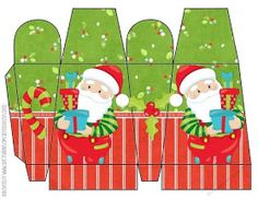 Bright Santa Icicle Box 1 by Lisa Craig Printable Bright Santa Icicle Box Printable Bright Santa Icicle Box 1 Christmas Gift Box Template, Christmas Gift Bags, Christmas Printables, Christmas Colors, Christmas Crafts, Cardboard Crafts, Paper Crafts, Christmas Sheets, Diy Doll Miniatures