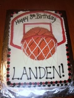 Tucker s birthday Basketball Cake basketball birthday party nba youngboy quotes Happy 8th Birthday, Diy Birthday Cake, Birthday Basket, Birthday Ideas, Sports Birthday Cakes, Turtle Birthday, Birthday Gifts, Basketball Birthday Parties, Basketball Cakes