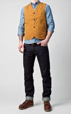 Tellason Worker Vest Canvas Duck