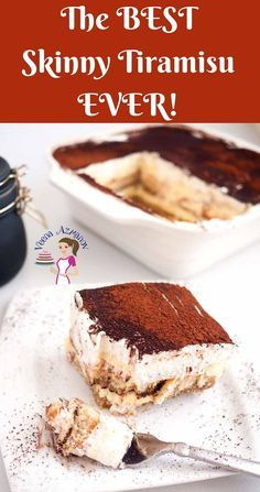 This skinny tiramisu is a rich and elegant dessert, bold in flavors of coffee and liqueur to warm you up in winter. Creamy and light layers of luxury Low Fat Desserts, Desserts For A Crowd, Healthy Desserts, Easy Desserts, Italian Desserts, Layered Desserts, Healthy Baking, Healthy Recipes, Light Dessert Recipes