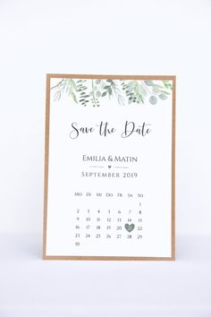 Save the Date Cards with Calendar Sheet Eucalyptus Love - . Save the Date Cards with Calendar Sheet-Eucalyptus Love – Backyard Wedding Invitations, Wedding Invitation Wording, Wedding Stationary, Wedding Backyard, Save The Date Karten, Save The Date Cards, Save The Date Ideas Diy, Diy Save The Dates, Wedding Cards
