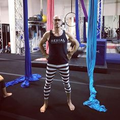 So resourceful!@notmanapart This is what happens when you forget your coaching pants. Aerial Warehouse Prison! I'm coaching on mondays 630 & 8pm. Come tumble! #GetAire