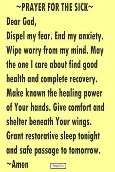46 Best Prayer For Sick Healing Images Prayers For Healing