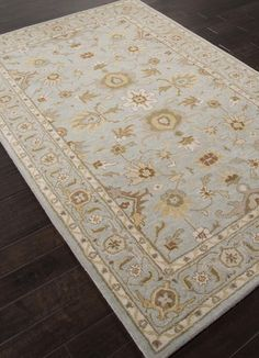Jaipur Rugs RUG112780 Hand-Tufted Durable Wool Blue/Brown Area Rug ( 9x12 )