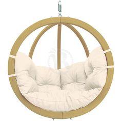 Outdoor & Indoor Hanging Chair: GLOBO CHAIR NATURA