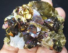 99g colorful Chalcopyrite&Siderite from Guizhou,China crystal minerals specimen
