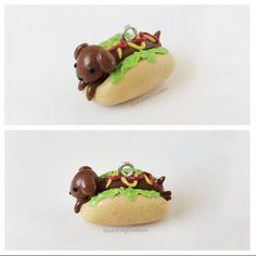 This listing is for one super cute Real Hot Dog Charm with the accessory style of your choice.  This sausage dog is perfect as a pendant,