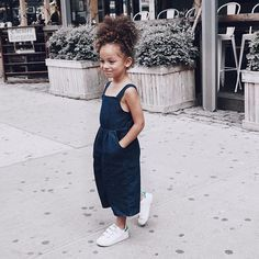 Dark denim culottes, the cutest! #estella #kids #fashion
