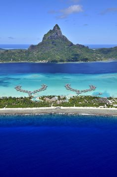 Different shades of blue Bora Bora