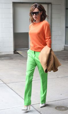 Vogue.com-Victoria Beckham wearing tricky colors