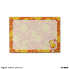 Tequila sunrise post-it® notes