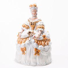 """Marie Antoinette Cookie Jar, Ceramic, 14.5"""""""