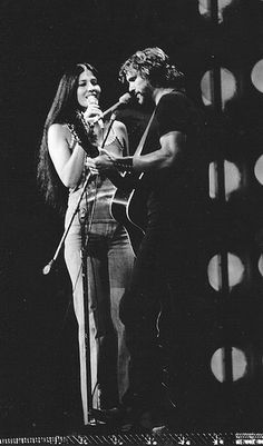 Kris Kristofferson and Rita Coolidge when they were married