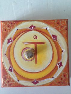 2th Chakra with agate energized 20X20 - Available to order