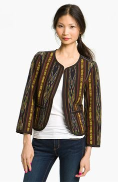 Free shipping and returns on Rubbish® Ikat Jacket (Juniors) at Nordstrom.com. A cute jacket is cut from exotic ikat for a carefree jet-setting look that is totally trend-right.