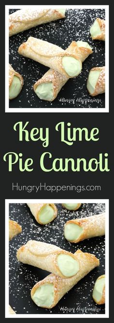 Give a classic summer recipe a fun twist. These sweet and tart Key Lime Pie Cann… Give a classic summer recipe a fun twist. These sweet and tart Key Lime Pie Cann… – Give a classic summer recipe a fun twist. These sweet and tart Key Lime Pie Cann… Brownie Desserts, Oreo Dessert, Mini Desserts, Key Lime Desserts, Coconut Dessert, Summer Dessert Recipes, Just Desserts, Delicious Desserts, Cannoli Dessert