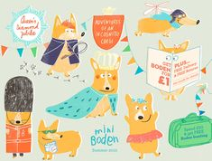 Mini Boden UK Magazine Summer 2012: Adventures of an Incognito Corgi. Illustrator Claudia Boldt. #corgi