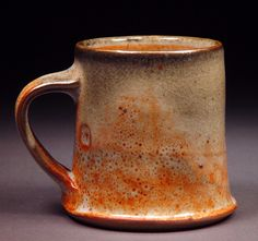 Johnson Creek Clay Studio, Rick Hintz, Shino type glaze with some carbon trapping.