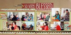 Ideas for Scrapbook Pages with 9 photos | Scrapbook Page by Brenda Becknell |GetItScrapped.com/blog