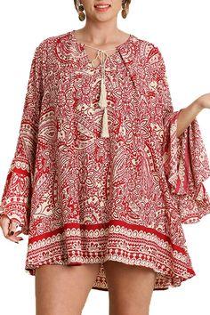 Paisley Red Dress - main