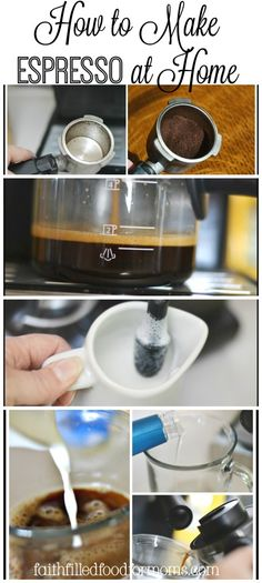 How to Make Espresso at Home. Learn how to make those yummy coffee drinks at  home and save TONS of MONEY! It's super easy!