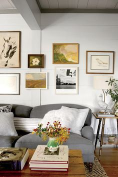 15 Ways with Shiplap: Simple Shiplap Den Gallery Wall