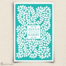 Vinwik Wedding Guest Book Alternative
