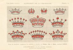 Wonderful French crowns for crosstitch: