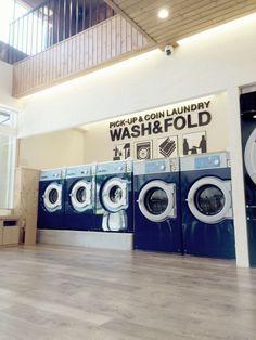 Coin Laundry Interior Design Onda Blu Laudromat Ideas