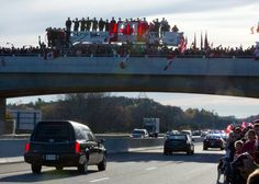 Updated: Thousands of Canadians line the route of the funeral procession for Cpl. Nathan Cirillo in Hamilton, Ont., to pay tribute to the fallen soldier. Canadian Soldiers, Canada Holiday, We Will Never Forget, Remembrance Day, True North, Canada Day, Armed Forces, Afghanistan, Brave