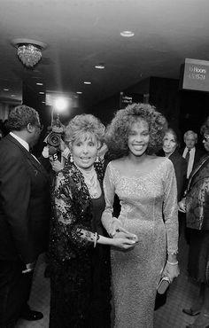 Whitney Houston and Lena Horneatthe1990 Songwriters HallofFame.