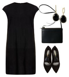 black dress on Polyvore