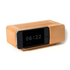 iPhone 4 Alarm Dock Natural, $31.50, now featured on Fab.