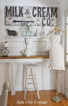 Gorgeous pieces here! Junk Chic Cottage: Dining Room Reveal