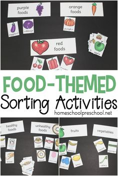 Print out and sort all types of foods with this pack of preschool food theme sorting activities. Sort by color, fruits and vegetables, healthy and unhealthy foods. Source by homeschlprek Preschool Cooking, Body Preschool, Free Preschool, Preschool Printables, Healthy Food Activities For Preschool, Preschool Themes, Nutrition Herbalife, Health And Nutrition, Nutrition Guide