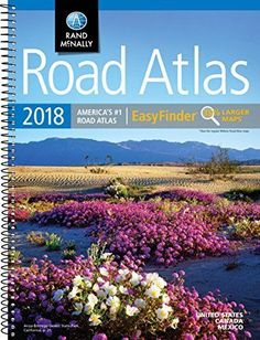 This spiral bound format features maps that are bigger than those found in Rand McNally's standard Midsize Atlas. This updated North American atlas contains maps. Mileage Chart, Great Books To Read, Road Trip Essentials, Travel Maps, Travel Gifts, Mexico, Canada, The Unit, Spiral