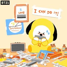 Image discovered by ឆលិន ✩ 𝒞𝐿. Find images and videos about cute, bts and chimmy on We Heart It - the app to get lost in what you love. Bts Bangtan Boy, Bts Jimin, Bts Taehyung, Fanart Bts, Bt 21, Loli Kawaii, K Wallpaper, Army Love, Line Friends