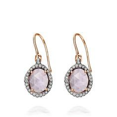 How stunning are these Rose De France earrings by Astley Clarke London?