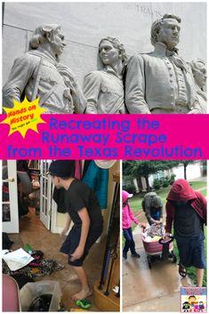 Runaway Scrape lesson #Texashistory #TexasRevolution Teaching American History, Teaching History, Texas History, Us History, Homeschool Curriculum, Homeschooling, Hands On Geography, Texas Revolution, Walking In The Rain