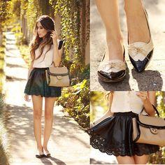 Flávia Desgranges van der Linden - Iloveflats Shoes, Goddnight Macaroon Skirt - My baby just cares for me