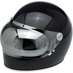Biltwell Gringo S Bubble Shield - Chrome Mirror — Retro inspired injection-molded polycarbonate shields in solid, gradient and reflective finishes. Universally fits all Gringo S helmet sizes. 1 stainless steel snap secures the shield while in the down position. UV Tested: Gringo S Bubble Shields are UV rated at UV +50 with over 92% UVA block and over 99% UVB block. Shields were evaluated for UV resistance as per test method AATCC 183.