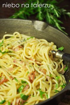 Healthy Dishes, Healthy Eating, Healthy Recipes, Pasta, Spagetti Carbonara, Czech Recipes, Ethnic Recipes, Musaka, Kitchen Recipes