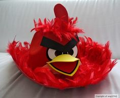 angry bird - red Boys Easter Hat, Easter Bonnets For Boys, Easter Hat Parade, Hoppy Easter, Easter Bunny, Easter Eggs, Crazy Hat Day, Crazy Hats, Easter Crafts