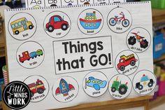 Transportation theme in kindergarten