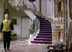 Annie's post yesterday on purple reminded us of the fabulous purple staircase in the film How to Steal a Million, with Audrey Hepburn and Peter O'Toole